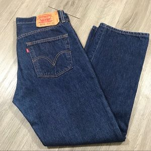 Levi's 501xx Shrink to Fit Medium Wash Jeans 34x32